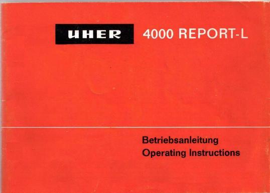 Bedienungsanleitung-Operating Instructions für Uher SG 562 Royal
